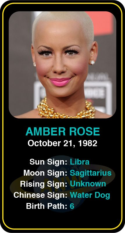 Celeb #Libra birthdays: Amber Rose's astrology info! Sign up here to see more: www.astroconnects.com #astrology #horoscope #zodiac #birthchart #natalchart #amberrose