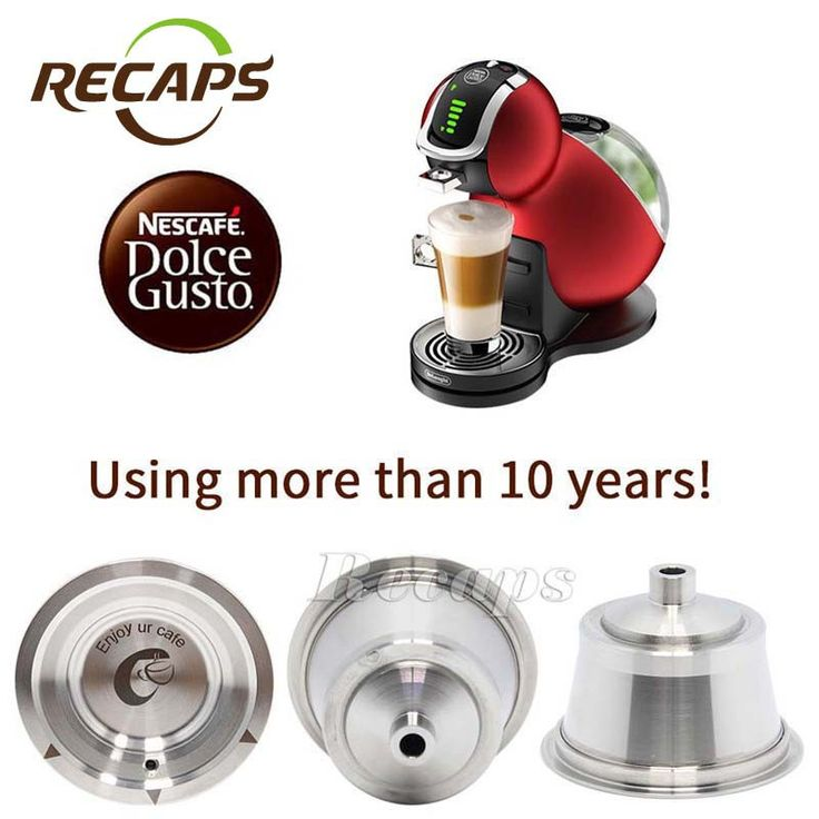 Dolce Gusto Coffee Capsule Stainless Steel Refillable Coffee Capsule Reusable Compatible with Nescafe Dolce Gusto System
