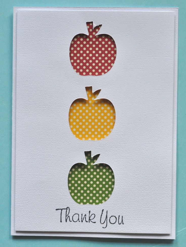 Thank you Mrs. Garcia - Scrapbook.com  Love the apple cut outs with different paper showing through!