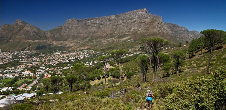 Riding on Table Mountain