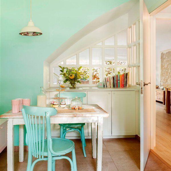 M s de 1000 ideas sobre salas de color verde menta en - Pintar muebles de colores ...