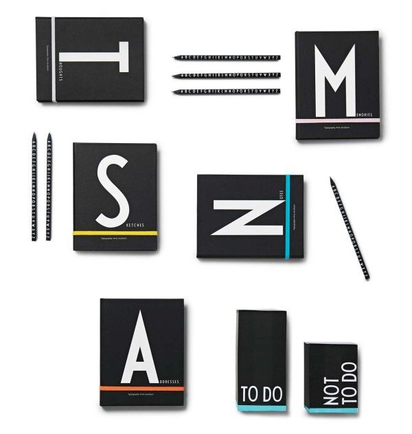 new stationery featuring Arne Jacobsen's vintage typography from Design Letters & Friends