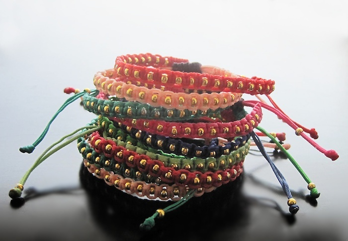 Knotted bracelets - Handmade jewelry, Χειροποίητο κόσμημα by Maria Apostolou