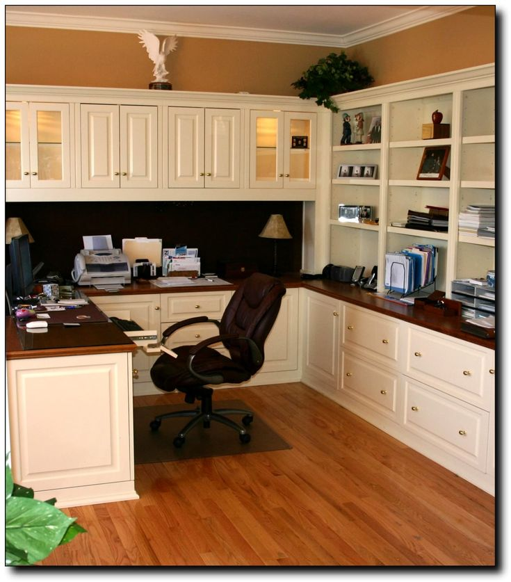 Office cabinets and lateral files under counter.  Need counter space for printer, room for paper and supply storage.