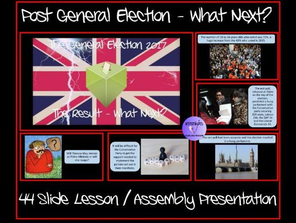 Post General Election 2017 - The Results - 44 Slide Lesson / Assembly Presentation