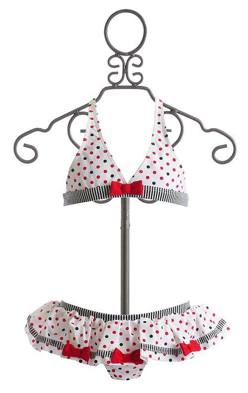 Kate Mack Polka Dot Girls Bikini $54.00