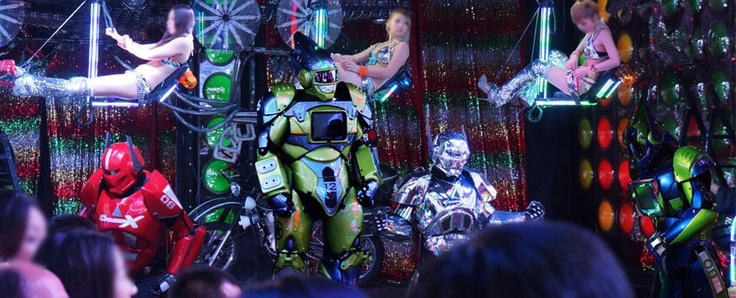 Holy crap. the Robot Restaurant in Shinjuku's Kabukicho looks like an acid trip in a pachinko machine. it's INSANE.