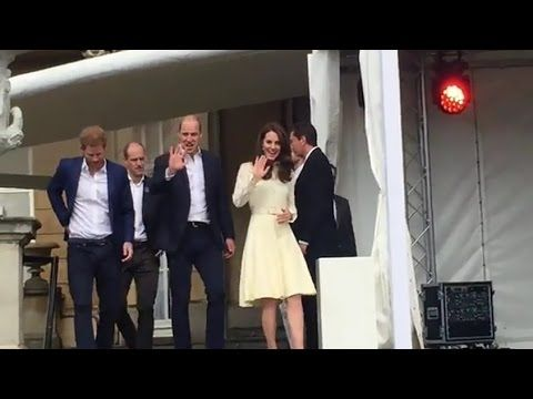 The Duke and Duchess of Cambridge and Prince Harry host Buckingham Palac...
