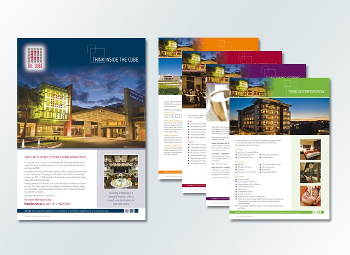 the cube a4 insert designs by www conceptfactory com au brochures
