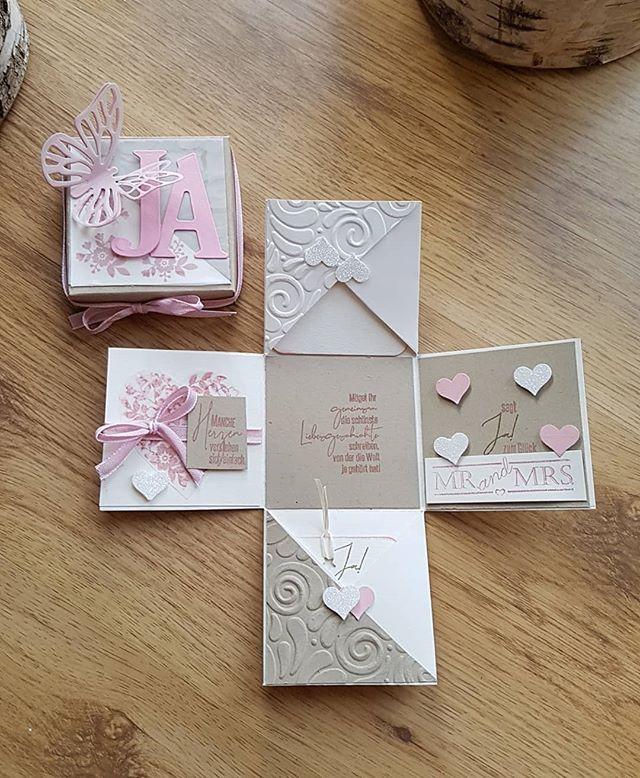 Herzen Hochzeit Gluckwunsch Liebe Love Married Heiraten Ehe Ja Stampinup Stempeln Sta Geschenkbox Hochzeit Gluckwunschkarte Hochzeit Karten Basteln
