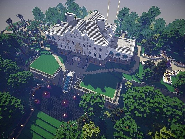 Snows Mansion minecraft building ideas house huge amazing sky view