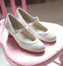Rainbow Club Maisie Childrens Wedding Shoes Ivory or White Bridesmaid or Communion Shoes