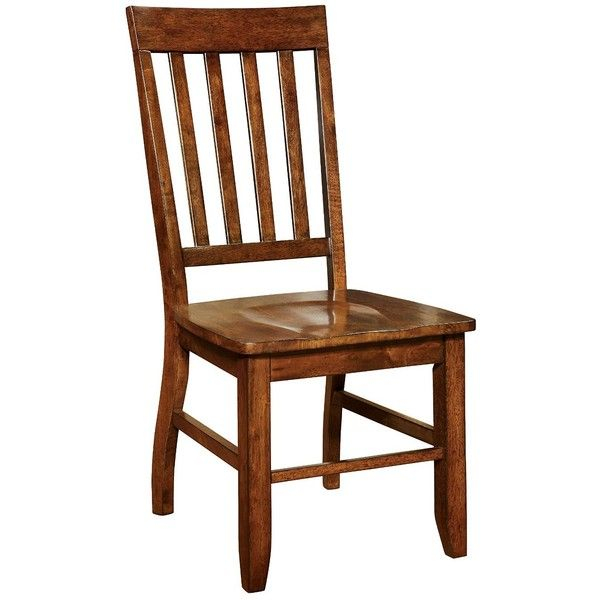 Amazon.com - Furniture of America Castile Transitional Dining Chair,... ($26) ❤ liked on Polyvore featuring home, furniture, chairs, dining chairs, dark oak furniture, transitional dining chairs, dark oak dining chairs, set of two chairs and set of 2 chairs