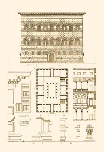 Palazzo Strozzi at Florence 20x30 poster