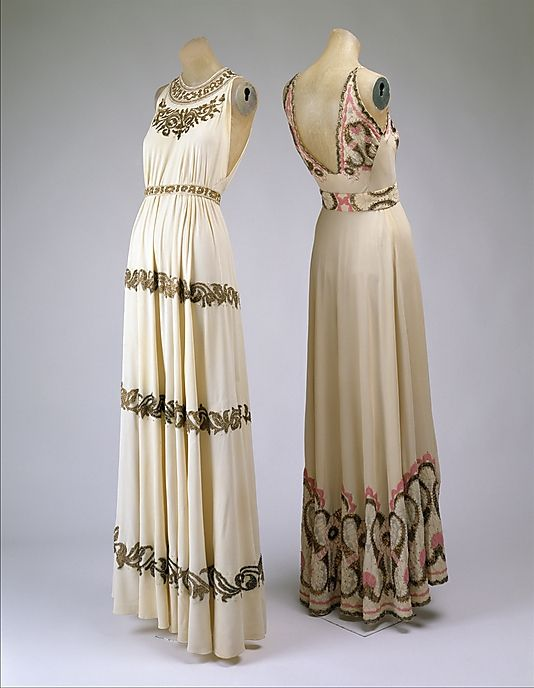 Evening dress Date: 1938 Culture: French