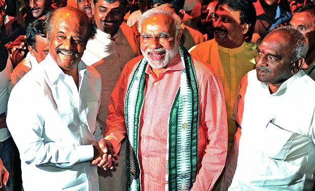 Rajinikanth congratulates Modi: Elections 2014 - read complete story click here... http://www.thehansindia.com/posts/index/2014-05-16/Rajinikanth-congratulates-Modi-Elections-2014-95314