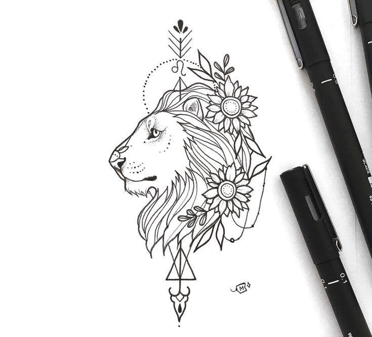 Leo Sternzeichen Inspiriert Girly Design Tattoo Alle Meine