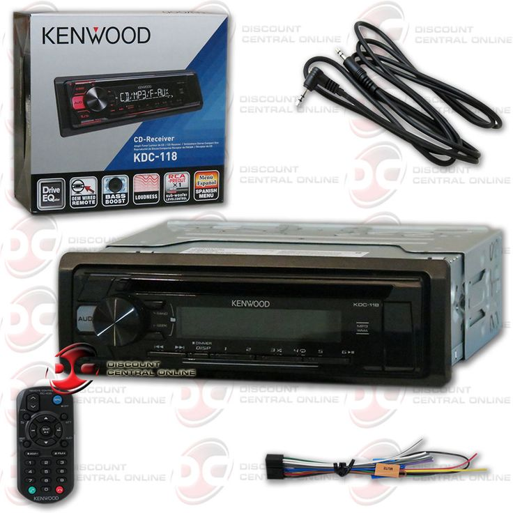 KENWOOD KDC-118 1-DIN CAR AUDIO CD AM FM AUX-IN STEREO [FREE] 3.5mm AUX CABLE
