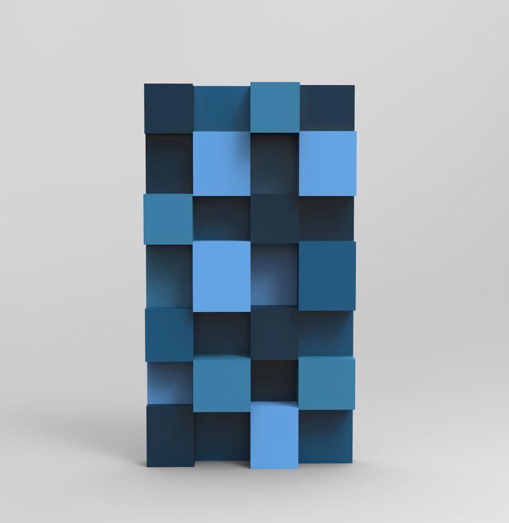 Lacquered Bookcase PIXL By ROCHE BOBOIS | Design Fabrice Berrux