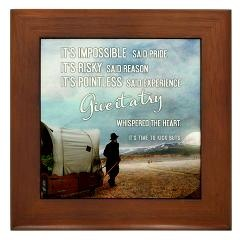 Framed Tile > Give It A Try Whispered The Heart + Gifts > TimeToKickBuTs Store  $12.99