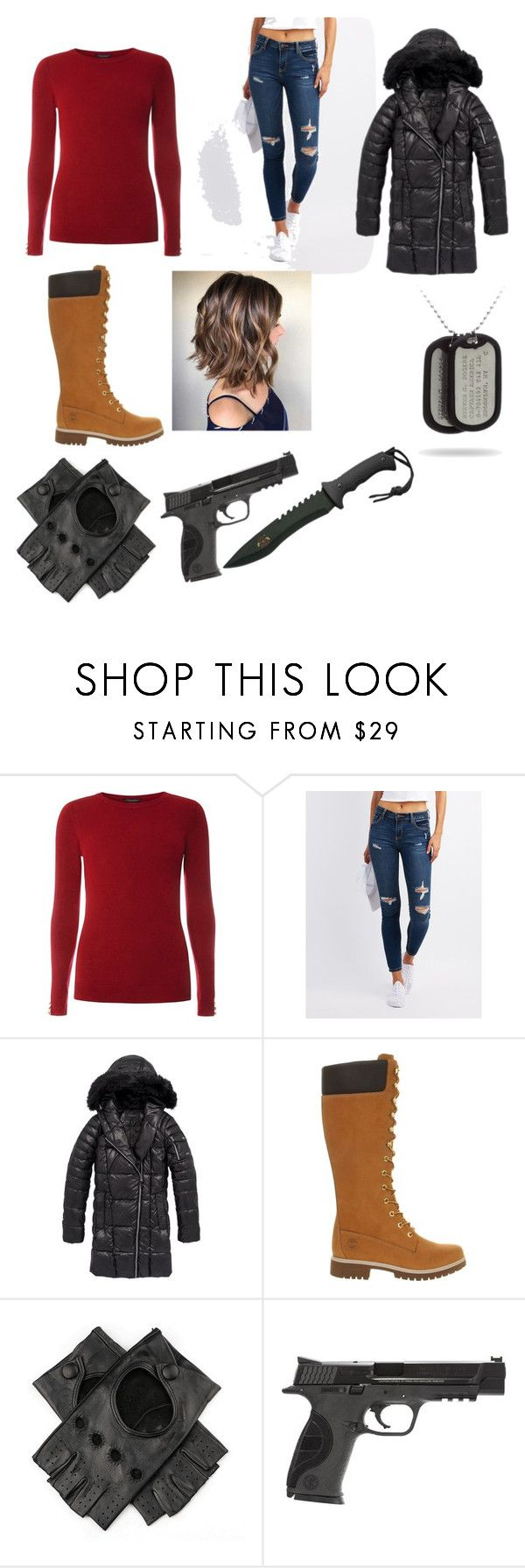 """""""Adventure Part 2"""" by dylanjacobclements ❤ liked on Polyvore featuring Dorothy Perkins, Cello, Andrew Marc, Timberland, Black and Smith & Wesson"""
