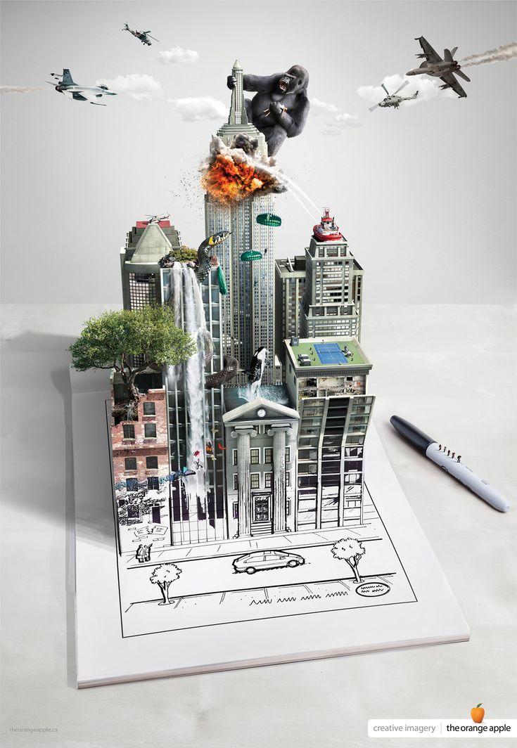 The Orange Apple Digital Retouching: Buildings
