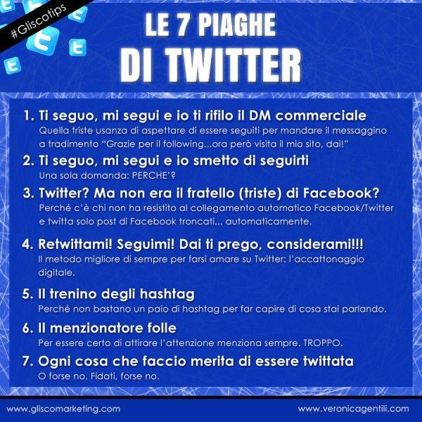 Glisco Marketing   Le 7 Piaghe di #Twitter