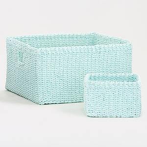 Love this color! Canal Blue Madison Baskets: Color, House