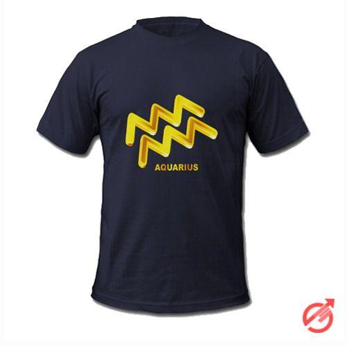 Zodiac Gold Aquarius T-Shirt