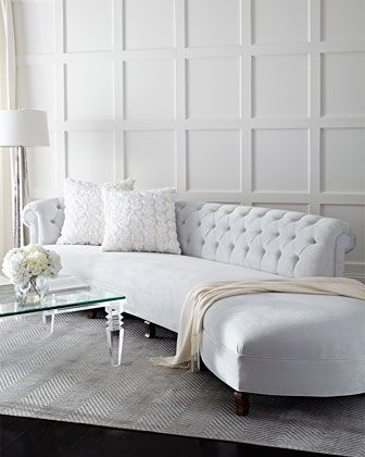 Love the All White!!  Evelyn Sectional Sofa by Haute House at Horchow.