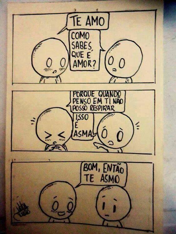 Te asmo muito <3 #quadrinhos #tirinhas: