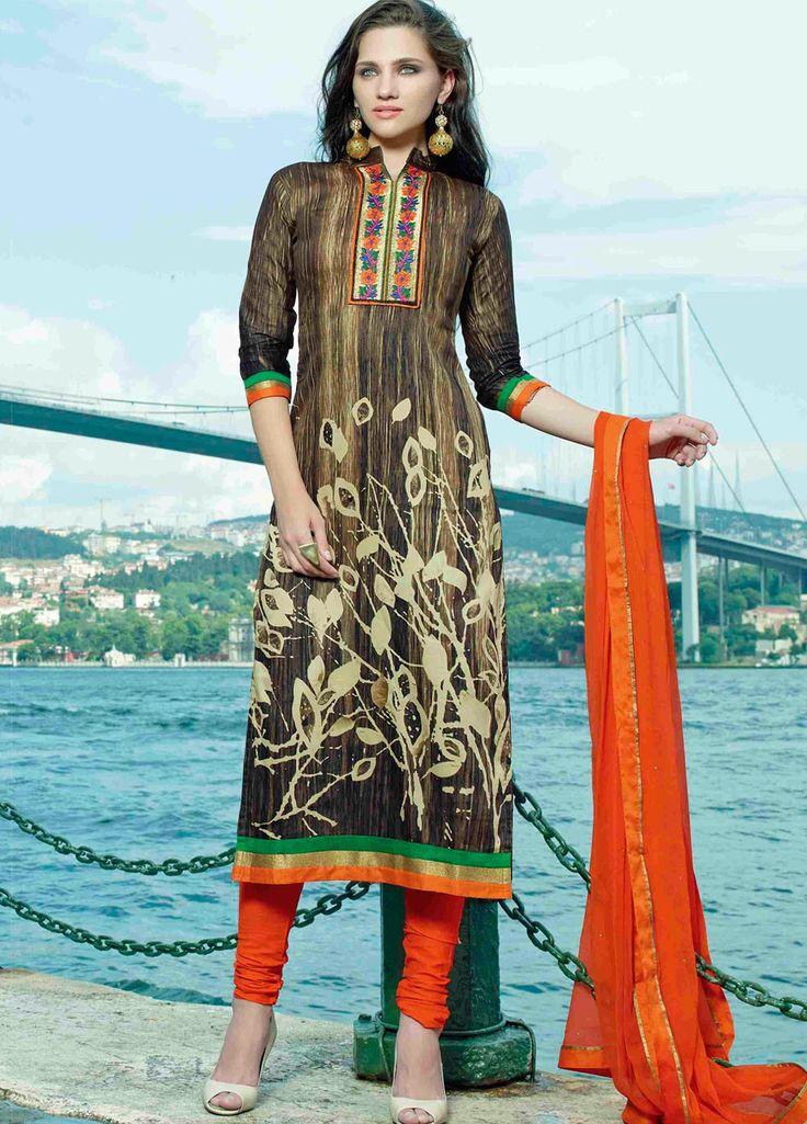 130 best A-line Straight Cut Salwar Suits images on Pinterest ...