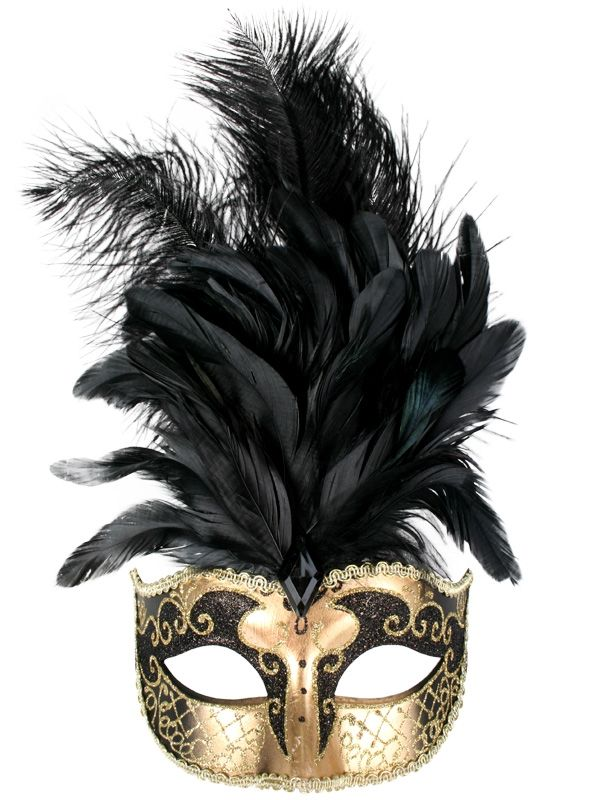 Masquerade Masks with Feathers