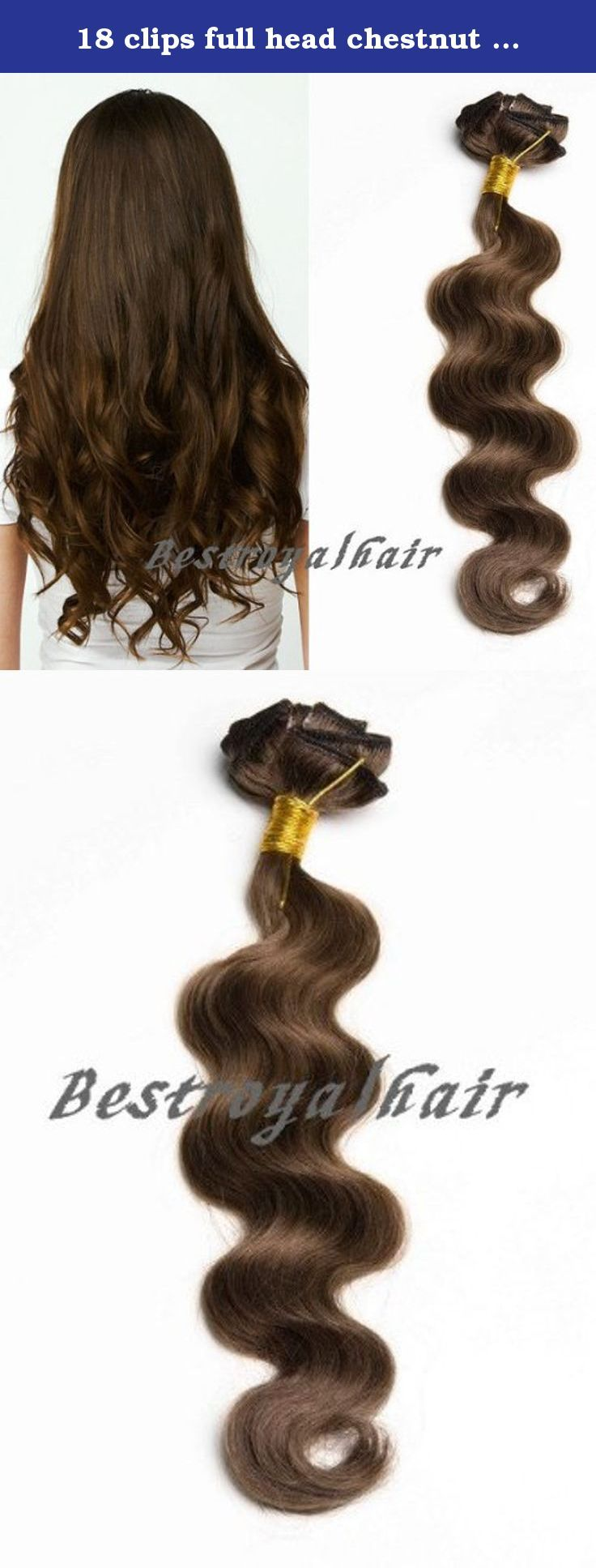 18 clips full head chestnut brown color indian remy clip in hair extensions RHS099 (20 inch). This Indian Remy hair extension in chestnut brown is reminding us of its bright and lovely nature, which looks like a flower in blooming with cheerful sense. It is of 100% Indian virgin human hair with silky curly beauty, which is very close to the nature of our own hair. By the use of clipping in this nice hair in 3 to 7 day's time, your new smart hairstyle will greatly bright up your looks…