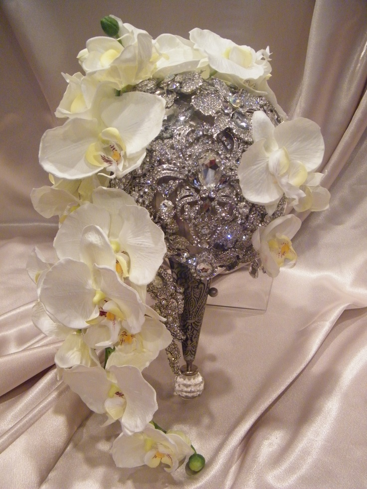 """Luxurious. Elegant. Unexpected Couture brooch bouquets available at """"Renee Strauss for the Platinum Bride and featured on the """"Brides of Beverly Hills"""" season 2 airing in October! Crystal Brooch Bouquets Inc. Couture Brooch Bouquets; for the discerning bride."""