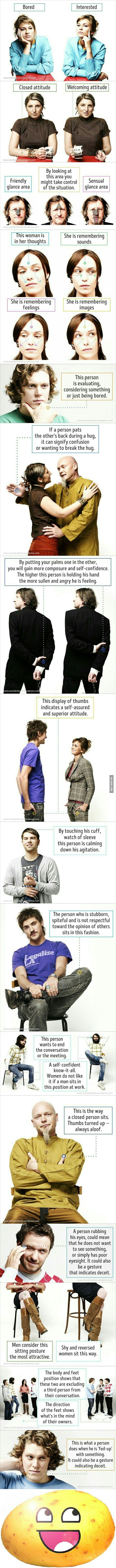 Le langage du corps expliqué en une infographie !                                                                                                                                                                                 More