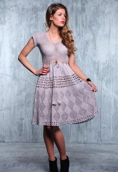 women's crochet dress with diagram