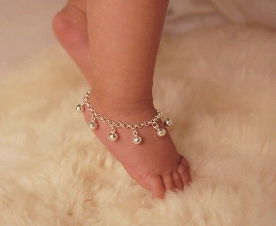 Sterling Silver Jingle Bells Anklet  Baby by danitaapple on Etsy, $35.00