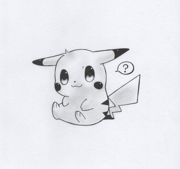 Pikachu tierno para dibujar - Imagui