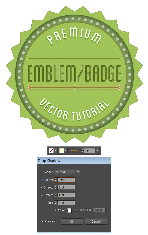 how to make badge design in photoshop
