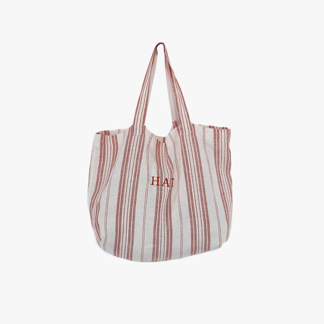 Rae Feather monogrammed Provence linen tote, $85 www.raefeather.com