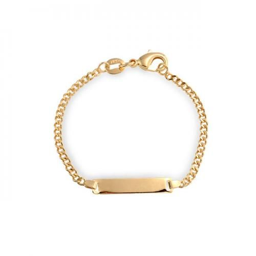 Childrens Baby Gold Filled ID Bracelet 5in