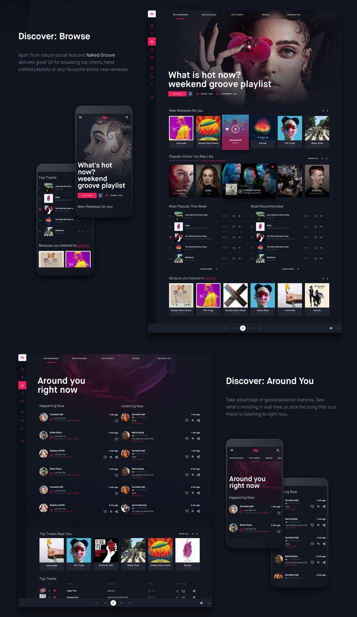 Online Music Streaming Platform in 2020 Music app design