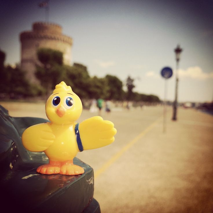 CosmoDuck and White Tower of Thessaloniki