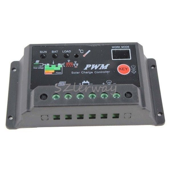 30A 12V/24V Light&Timer Charger Solar Charge Controller Battery Regulator Power #Lerway