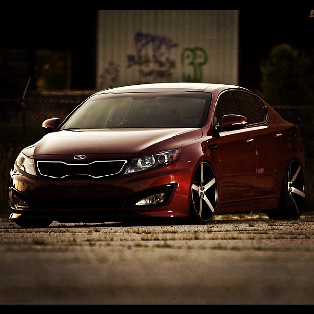 First ever Kia Optima on air ride with sexy vossen rims #joeychrisman #streetaddicts - @streetaddicts- #webstagram