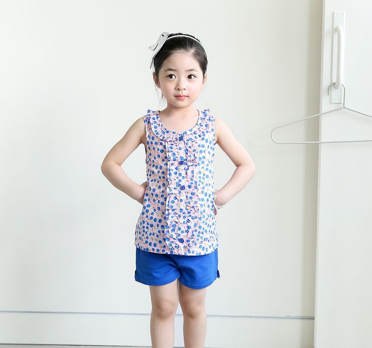 Korea children's No.1 Shopping Mall. EASY & LOVELY STYLE [COOKIE HOUSE] Natural Cherry T-shirt2 kind / Size : S, M, L / Price : 12.59 USD Lovely cute cherry pattern shearing-! Storage is possible and easy to take off button closure! Cool lightweight 100% cotton tank top blouse!  (2 style / 7 ~ 17 to No.)  #tops #tshirt #blouse #pattern #flower #koreakids #kids #kidsfashion #cute #COOKIEHOUSE #OOTD