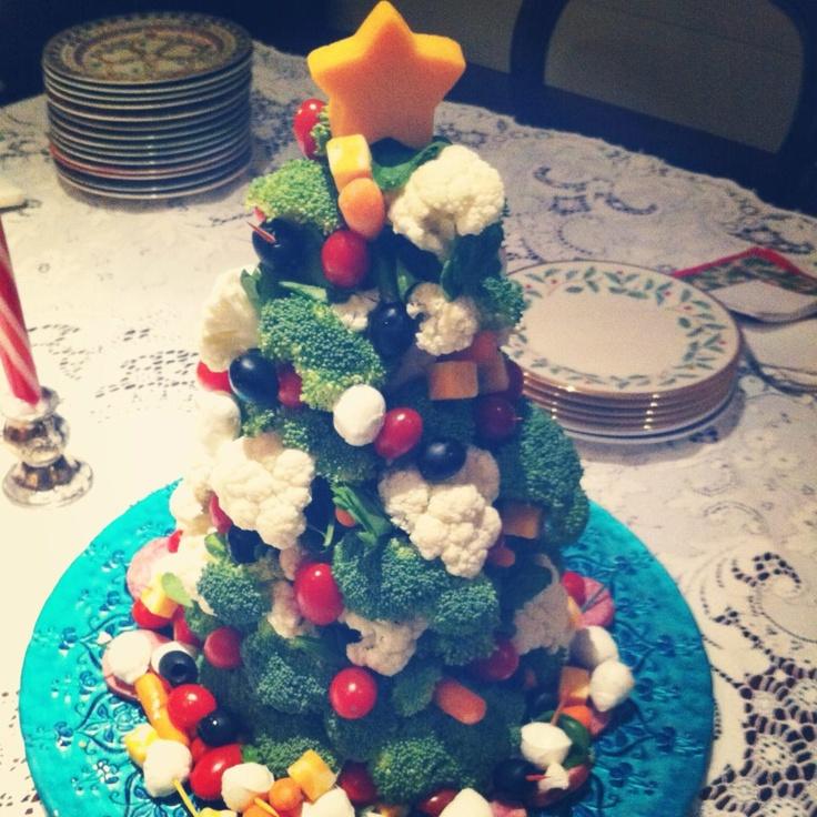 Veggie Christmas Tree Recipe: Mostaza Seed- A Veggie Christmas Tree