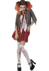 Disfraz colegiala sangrienta mujer