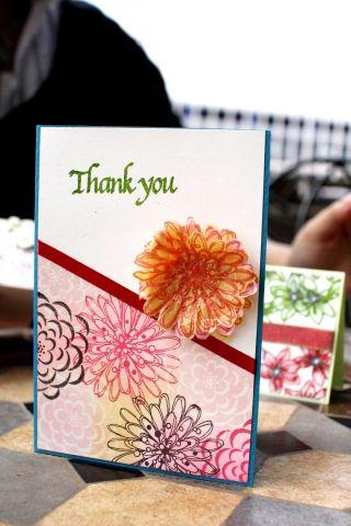 ペーパークラフトで作る手作りのサンクスカード♪ウェディング用のメッセージカードのおしゃれデザイン☆